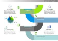 Sistema del infographics del ejemplo del vector Plantilla para el folleto, negocio, diseño web libre illustration