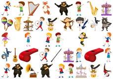 Sistema del instrumento de música stock de ilustración