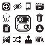 Sistema del interruptor, archivo, carga por teletratamiento, barajadura, muda, usuario, libreta, G libre illustration