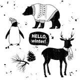 Sistema del invierno Fotos de archivo libres de regalías