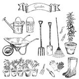 Sistema del jardín stock de ilustración