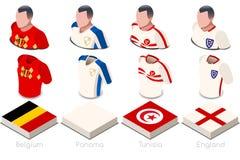 Sistema del jersey de G del grupo del mundial stock de ilustración