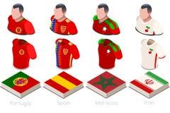 Sistema del jersey del grupo B del mundial libre illustration
