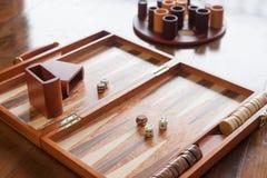 Sistema del juego del backgammon Fotos de archivo libres de regalías