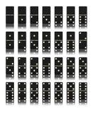 Sistema del juego del dominó Fotografía de archivo libre de regalías