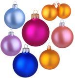 Sistema del juguete de la bola de la Navidad Imagen de archivo