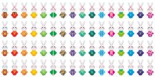 Sistema del kimono del conejo de Japón Fotografía de archivo