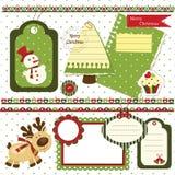 Sistema del libro de recuerdos de la Navidad Fotos de archivo
