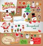Sistema del libro de recuerdos de la Navidad Imágenes de archivo libres de regalías