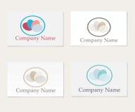 Sistema del logotipo de cuatro compañías Imagen de archivo