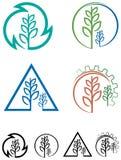 Sistema del logotipo de la agricultura stock de ilustración