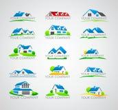 Sistema del logotipo de la casa Fotografía de archivo libre de regalías
