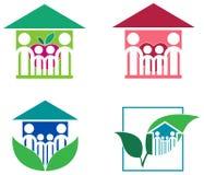 Sistema del logotipo de la familia Foto de archivo libre de regalías