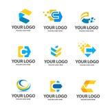 Sistema del logotipo de la letra c stock de ilustración