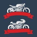 Sistema del logotipo de la motocicleta stock de ilustración