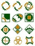 Sistema del logotipo de las ruedas dentadas Fotos de archivo libres de regalías