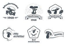 Sistema del logotipo de las setas Diseñe los elementos, los iconos, los emblemas y las insignias en el fondo blanco ilustración del vector