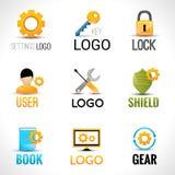 Sistema del logotipo de los ajustes Imagenes de archivo