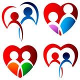 Sistema del logotipo de los amantes Fotografía de archivo libre de regalías