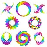 Sistema del logotipo del arco iris para su diseño stock de ilustración