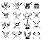 Sistema del logotipo del caballero Foto de archivo libre de regalías