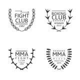 Sistema del logotipo del club de la lucha Fotos de archivo