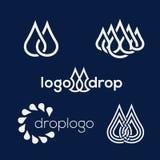 Sistema del logotipo del descenso Fotografía de archivo libre de regalías