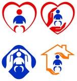 Sistema del logotipo del niño Fotografía de archivo libre de regalías