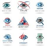 Sistema del logotipo del ojo stock de ilustración