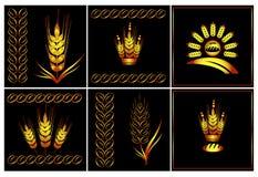 Sistema del logotipo del vector de agricultura Imagen de archivo libre de regalías