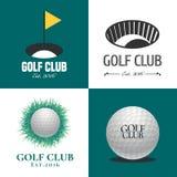 Sistema del logotipo del vector del golf Fotografía de archivo