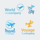 Sistema del logotipo del viaje Imagenes de archivo