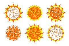 Sistema del logotipo del festival del verano ilustración del vector