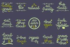 Sistema del logotipo para el negocio local de la producción Fotografía de archivo