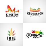 Sistema del logotipo positivo de la bandera del ephiopia jamaica Foto de archivo