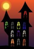 Sistema del mal de la silueta de Halloween Imagenes de archivo
