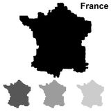 Sistema del mapa de Francia Stock de ilustración