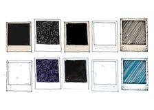 Sistema del marco de la foto del dibujo del vintage Imagen de archivo libre de regalías
