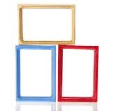 Sistema del marco de madera para la foto ilustración del vector