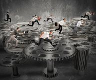 Sistema del meccanismo di affari Fotografie Stock