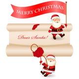 Sistema del mensaje de la Navidad Fotos de archivo