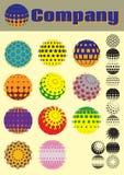 Sistema del modelo colorido para hacer emblemas Foto de archivo libre de regalías