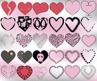 sistema del modelo de 30 corazones Imagenes de archivo