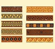 Sistema del modelo griego Imágenes de archivo libres de regalías