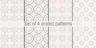 Sistema del modelo inconsútil árabe Vector que repite textura libre illustration