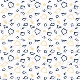 Sistema del modelo inconsútil del vector azul y blanco Elementos del diseño del libro de recuerdos Textura dibujada mano abstract Fotografía de archivo libre de regalías