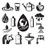 Iconos del agua Imagen de archivo