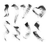 Sistema del movimiento del cepillo del rimel Fotos de archivo libres de regalías