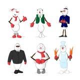 Sistema del muñeco de nieve Imagen de archivo libre de regalías