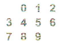 Sistema del número Foto de archivo libre de regalías